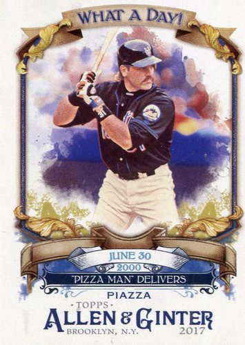 Photo of 2017 Topps Allen and Ginter What a Day #WAD14 Mike Piazza