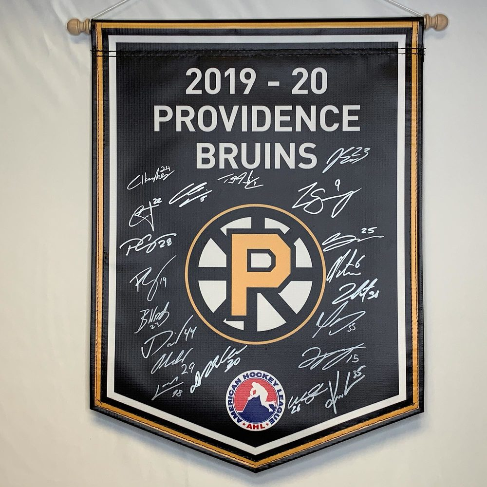 2019-20 Providence Bruins Team-Signed Banner
