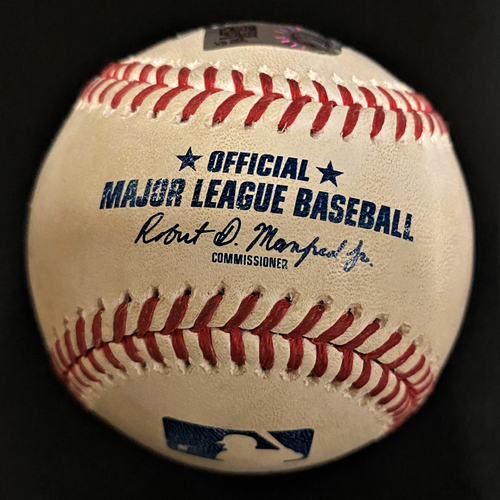 Photo of Game-Used Baseball:  Luis Robert Chicago White Sox RBI Double (MLB AUTHENTICATED)