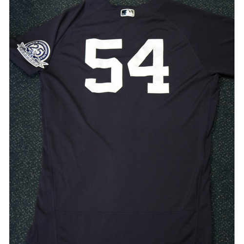 Photo of 2020 Game-Used Spring Training Jersey - Aroldis Chapman #54 - Size 46