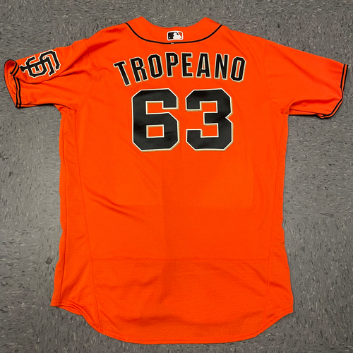 Photo of 2021 Team Issued Orange Home Alt Jersey - #63 Nick Tropeano - Size 48
