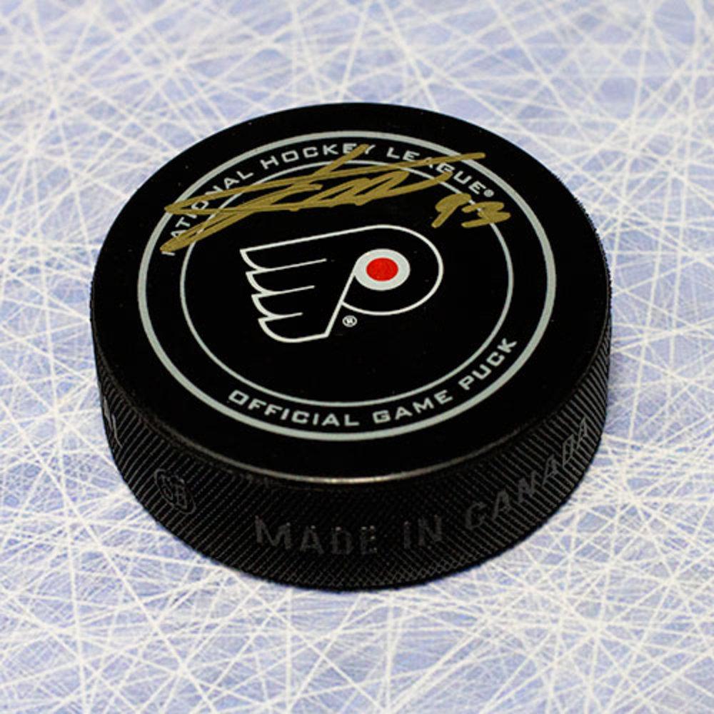 Jakub Voracek Philadelphia Flyers Autographed Game Model Puck