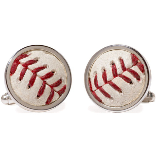 Photo of Cardinals Authentics: St. Louis Cardinals Game-Used Baseball Cuff Links