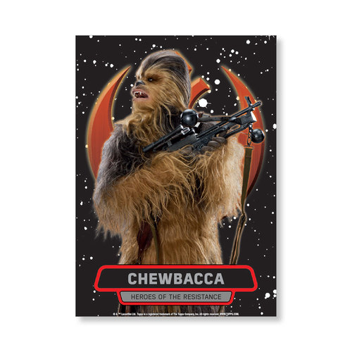 Chewbacca TFA Series 2 HEROES OF THE RESISTANCE Poster - # to 99
