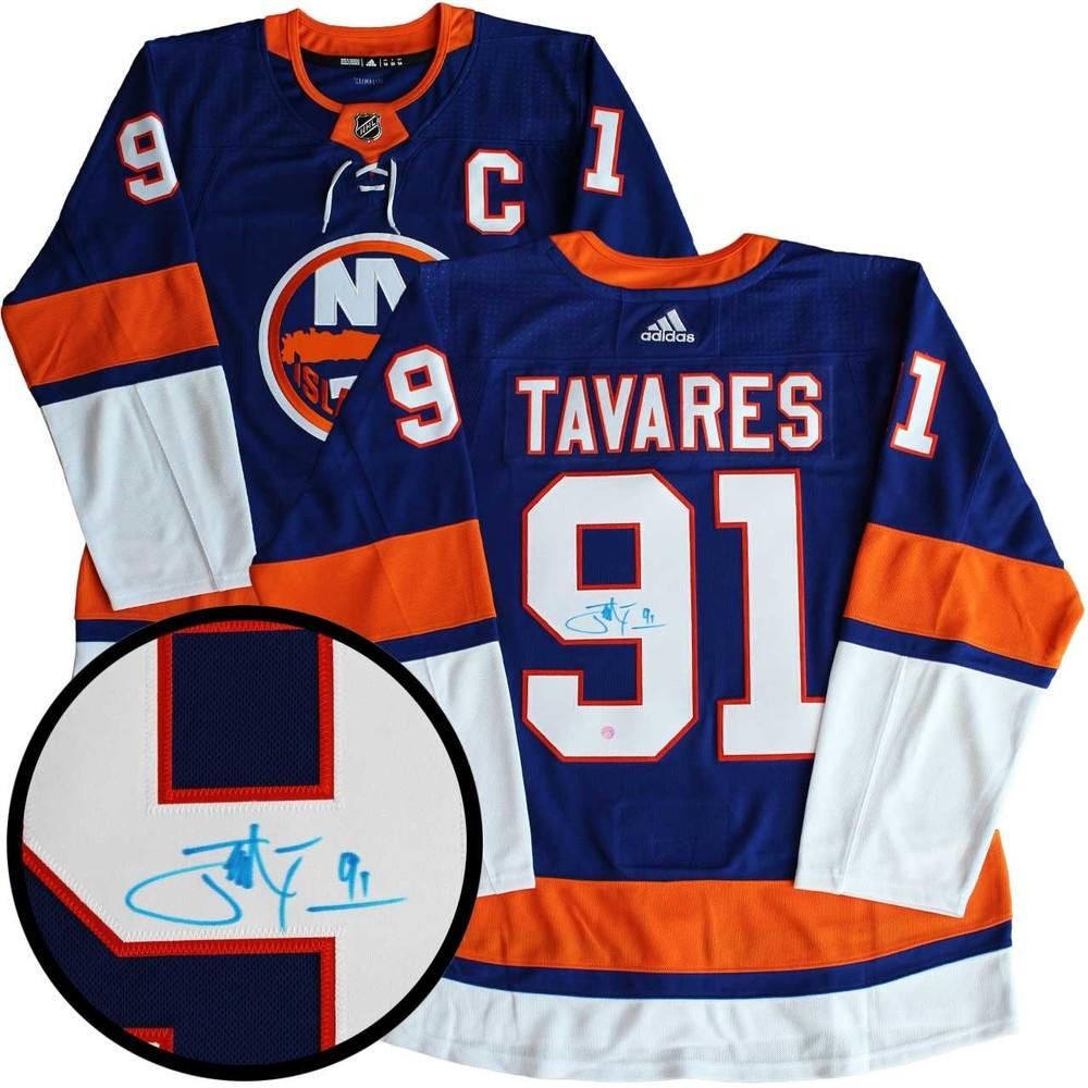 wholesale dealer 49b18 29fa6 John Tavares - Signed Jersey Pro Adidas Islanders Blue 17-18 ...