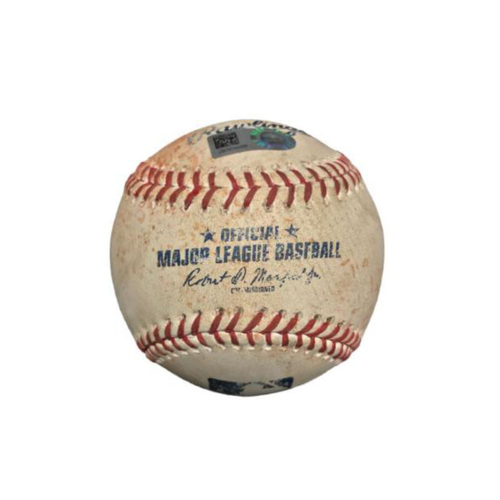 Photo of Game-Used Baseball from Pirates vs. Cubs on 6/17/17 - Arrieta to Mercer, Double
