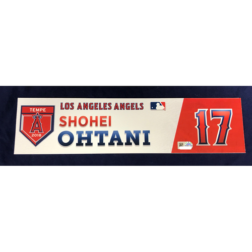 Photo of Shohei Ohtani 2018 Team-Issued Spring Training Locker Tag