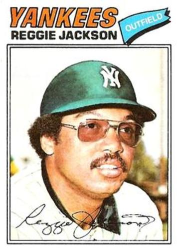 Photo of 1977 Topps #10 Reggie Jackson -- Hall of Famer
