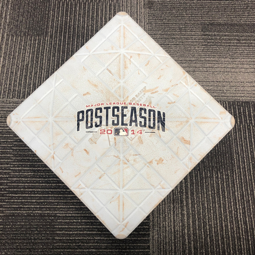 Photo of San Francisco Giants - 2014 NLDS Game 3 Game Used Base - 2nd Base innings 4-6 - 10/6/14 vs WAS