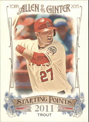 Photo of 2015 Topps Allen and Ginter Starting Points #SP3 Mike Trout