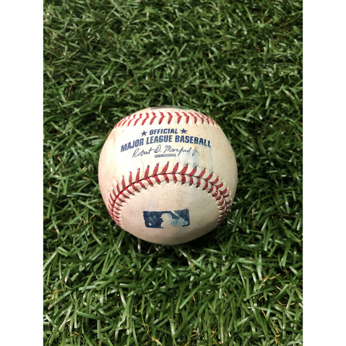 Photo of Game Used Baseball: Josh Reddick single and Robinson Chirinos at-bat against Tyler Glasnow - March 30, 2019 v HOU