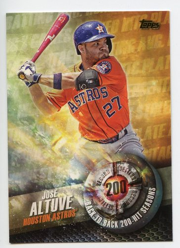 Photo of 2016 Topps Record Setters #RS15 Jose Altuve