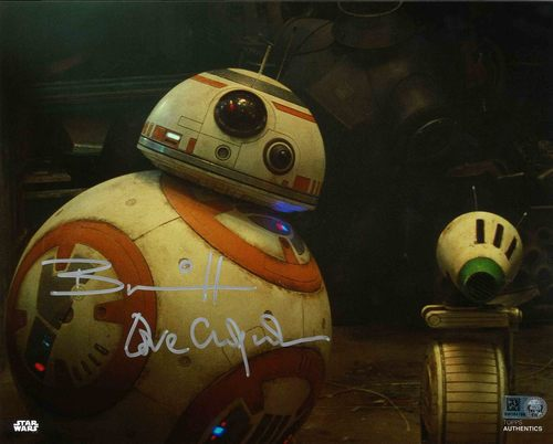 Brian Herring and David Chapman As BB-8 8X10 AUTOGRAPHED IN 'SILVER' INK PHOTO