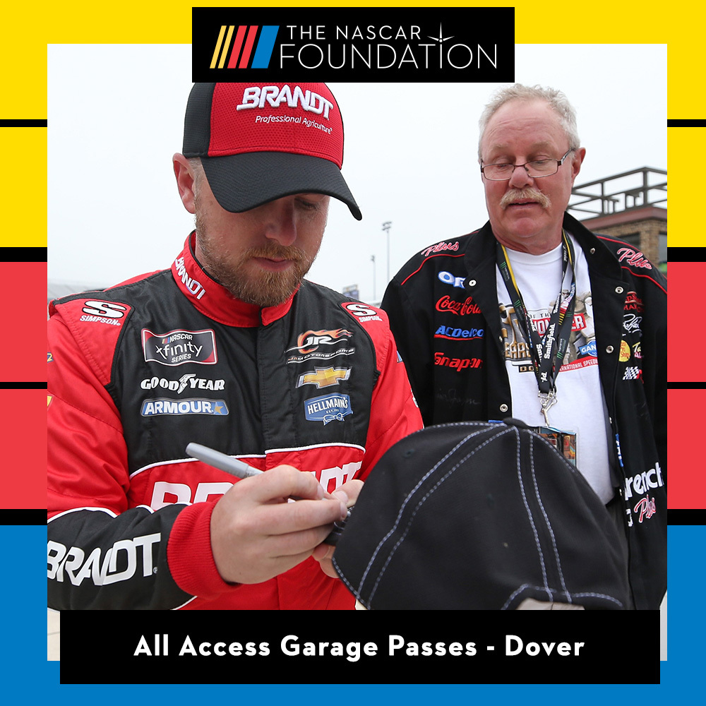 Two All Access NASCAR Garage Passes at Dover International Speedway!