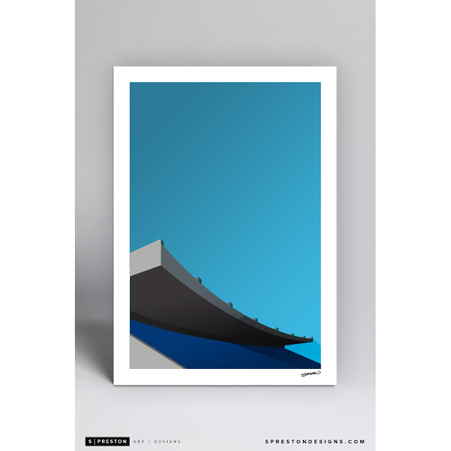 Photo of Exhibition Stadium - Minimalist Ballpark Art Print by S. Preston  - Toronto Blue Jays