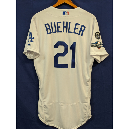 Photo of Walker Buehler Team Issued 2019 Home Postseason Jersey