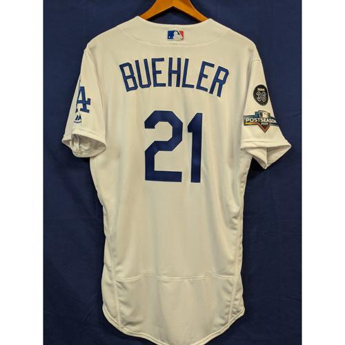 Photo of Walker Buehler Team Issued 2019 Home Postseason Jersey