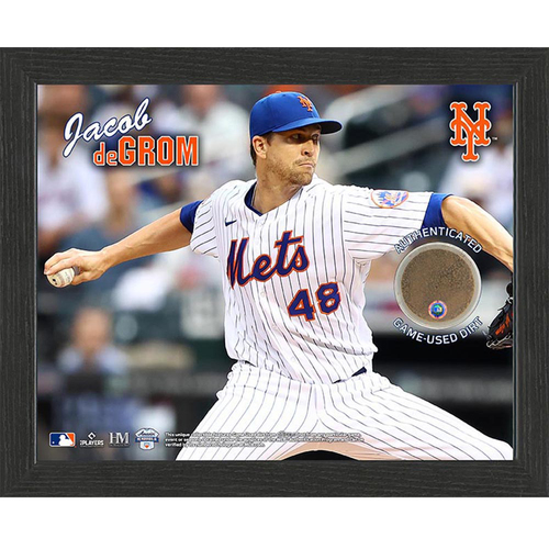 Photo of Jacob deGrom Game-Used Dirt Plaque