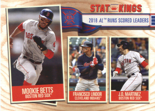 Photo of 2019 Topps Big League #347 J.D. Martinez/Francisco Lindor/Mookie Betts
