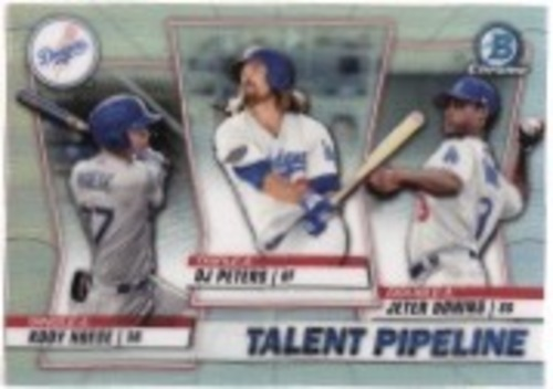 Photo of 2020 Bowman Chrome Talent Pipeline #TPLAD DJ Peters/Jeter Downs/Kody Hoese