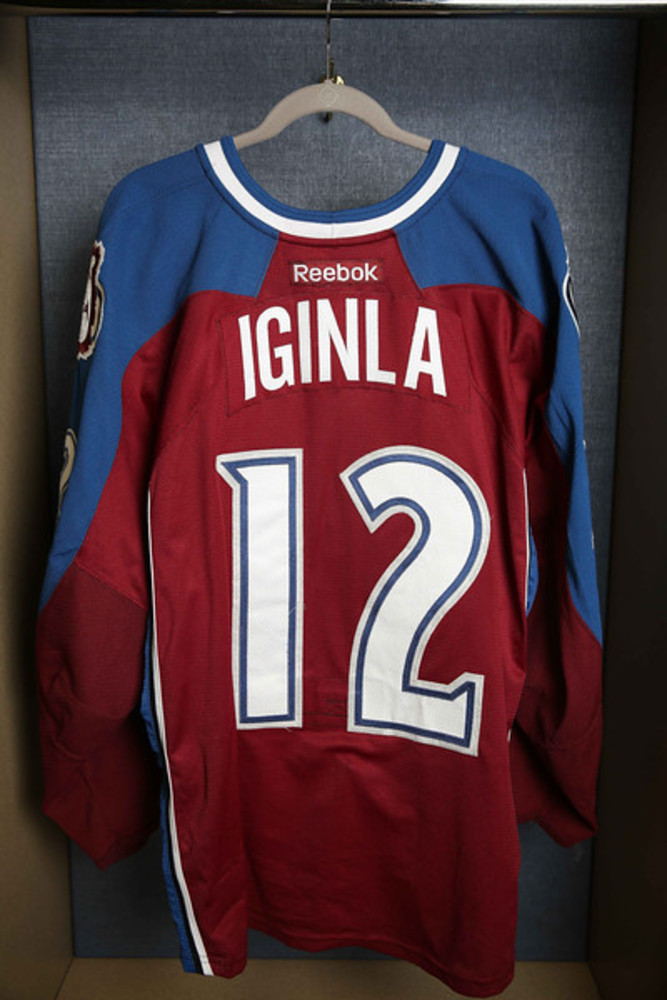 ccbd63ead84 Jarome Iginla Game Worn Colorado Avalanche Jersey - NHL Auctions