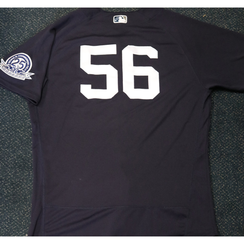 Photo of 2020 Game-Used Spring Training Jersey - Jonathan Holder #56 - Size 48