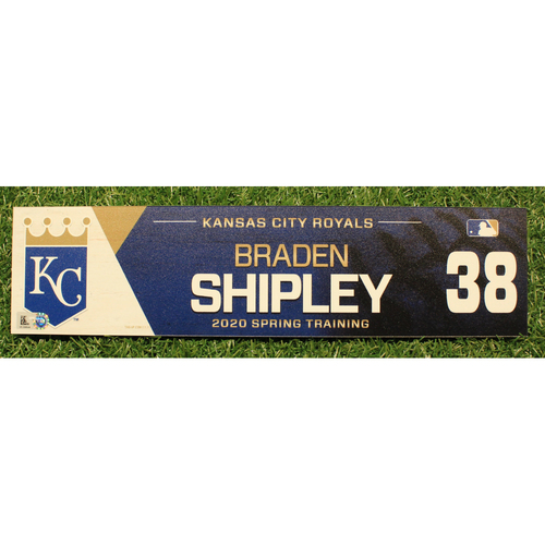 Photo of Game-Used 2020 Spring Training Locker Tag: Braden Shipley #38
