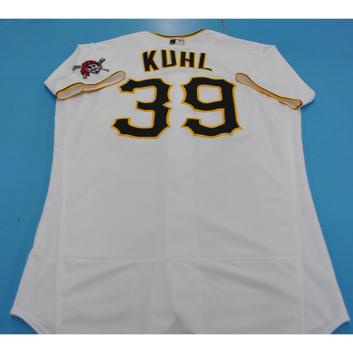 Photo of Game-Used Jersey - 7/27/2020 - MIL @ PIT - Chad Kuhl 2020 Home jersey