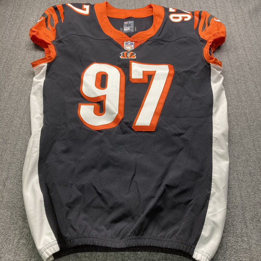 NFL Auction | Crucial Catch - Bengals Geno Atkins Signed Game Used ...