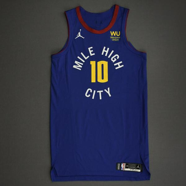 Image of Bol Bol - Denver Nuggets - Game-Worn Statement Edition Jersey - Dressed, Did Not Play (DNP) - 2021 NBA Playoffs