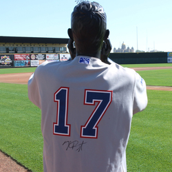 Image of #17 Kris Bryant Autographed Game Worn Jersey