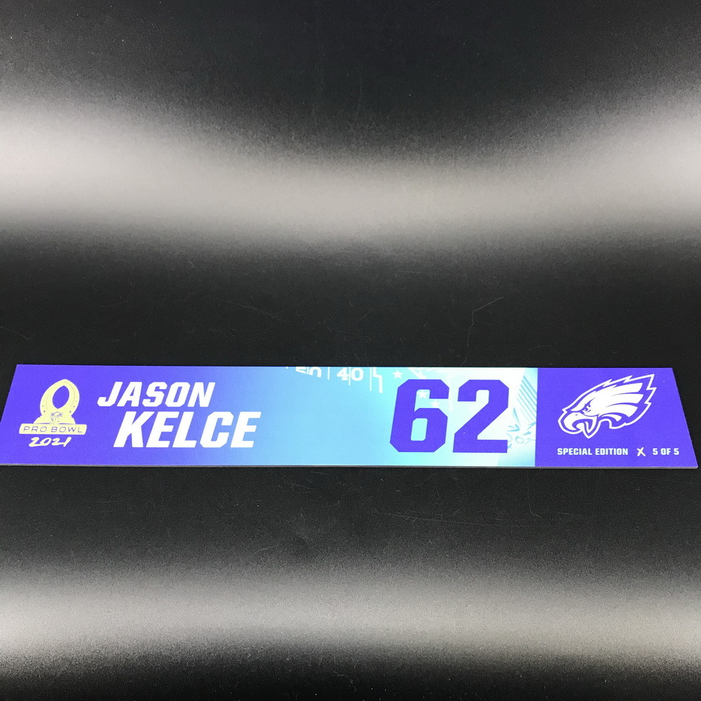 NFL - Eagles Jason Kelce 2021 Pro Bowl Locker Nameplate Special Edition #5 of 5