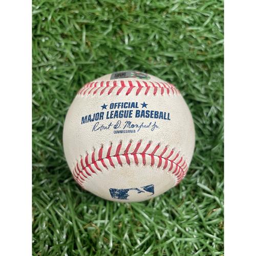 Photo of Game Used Baseball: Brandon Drury and Cavan Biggio single off Ryan Yarbrough - Top 7 - August 21, 2020 v TOR