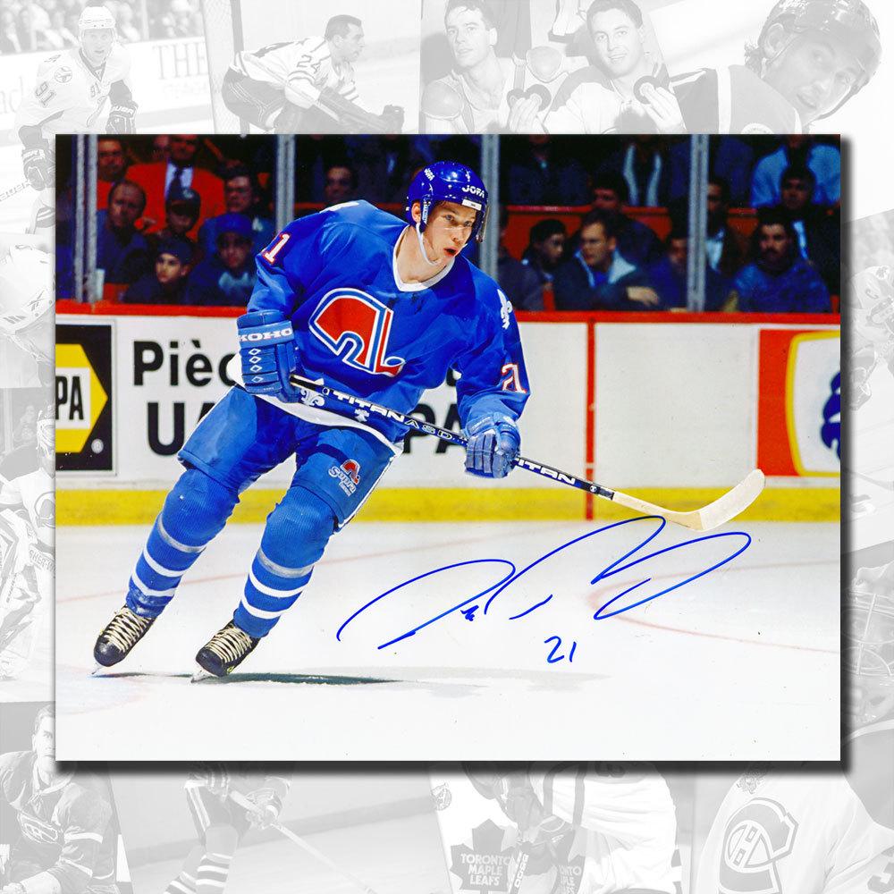 Peter Forsberg Quebec Nordiques Rookie Autographed 8x10