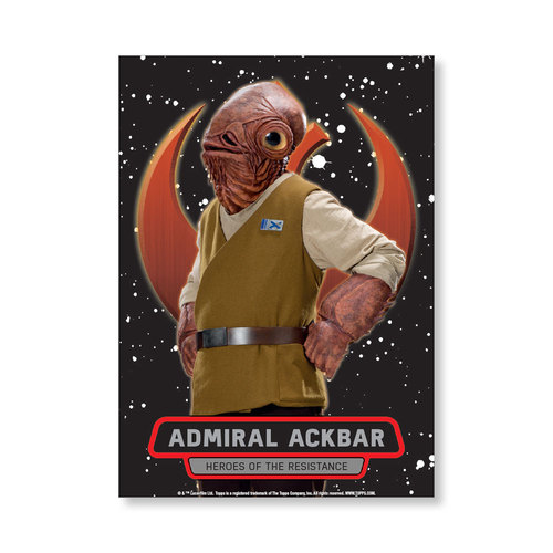 Admiral Ackbar TFA Series 2 HEROES OF THE RESISTANCE Poster - # to 99