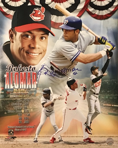 Photo of Roberto Alomar Autographed 16x20 Collage