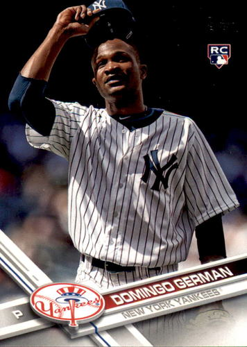 Photo of 2017 Topps Update #US2 Domingo German Rookie Card