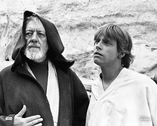 Obi-Wan Kenobi and Luke Skywalker