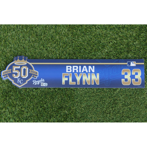 Photo of Game-Used Locker Nameplate: Brian Flynn