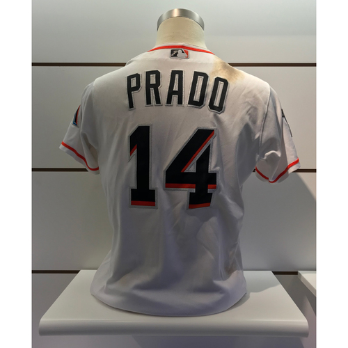 Photo of Game-Used Jersey: Martin Prado vs Nationals (July 29, 2018) - 1 Double, 1 Single, 2 RBI's, 1 Run (Size - 44)