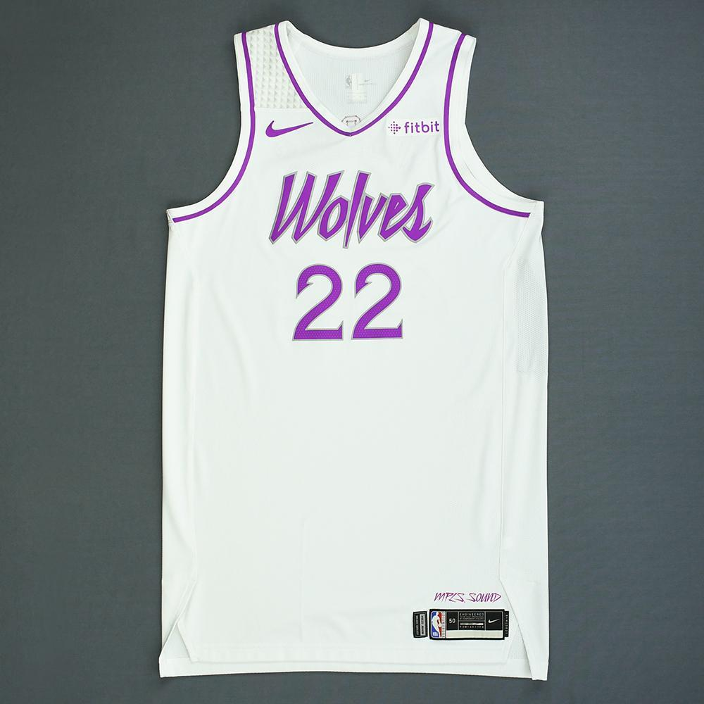 3a2562cd97fe Andrew Wiggins - Minnesota Timberwolves - Game-Worn Earned City Edition  Jersey - 2018-