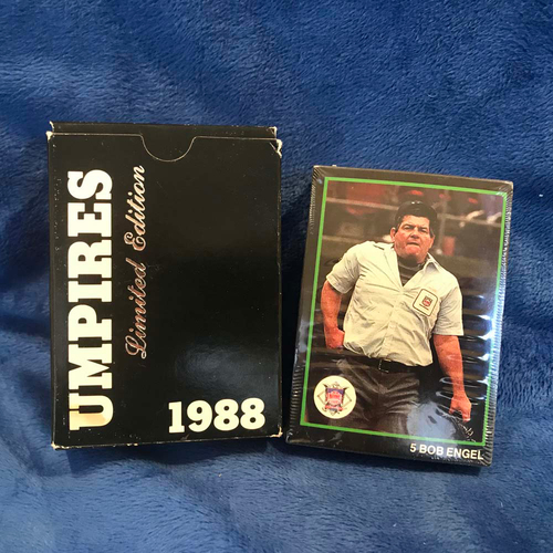 Photo of UMPS CARE AUCTION: 1988 T&M Limited Edition Umpire Cards
