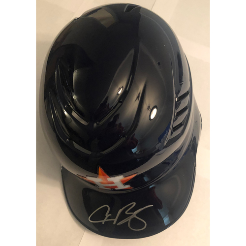 Photo of Alex Bregman Autographed Astros Batting Helmet