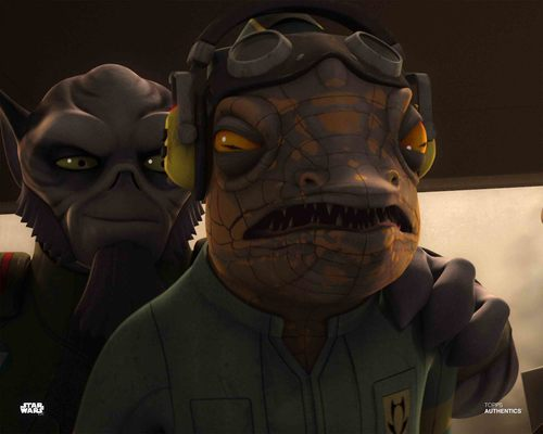 Zeb Orrelios and Captain Seevor