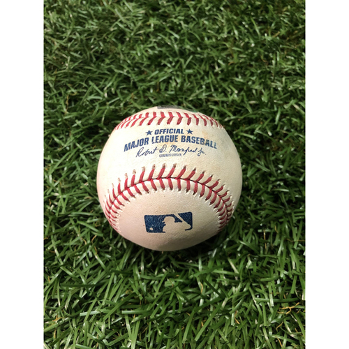 Photo of Game Used Baseball: Avisail Garcia strike out and Austin Meadows RBI single off Wade Miley - March 31, 2019 v HOU