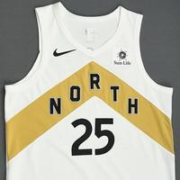 Chris Boucher - Toronto Raptors - 2018-19 Season - Game-Worn White City Edition Jersey