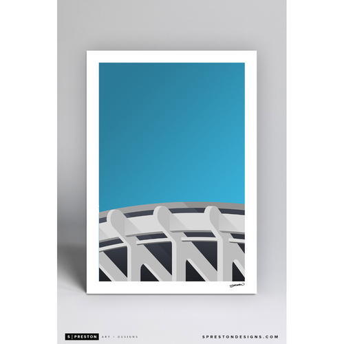 Photo of RFK Stadium - Minimalist Ballpark Art Print by S. Preston  - Washington Nationals