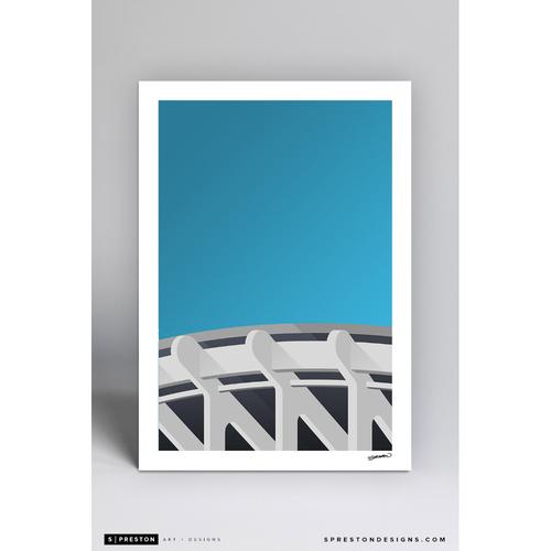 Photo of RFK Stadium - Minimalist Ballpark Art Print by S. Preston  - Washington Nationals
