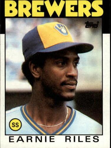 Photo of 1986 Topps #398 Earnie Riles
