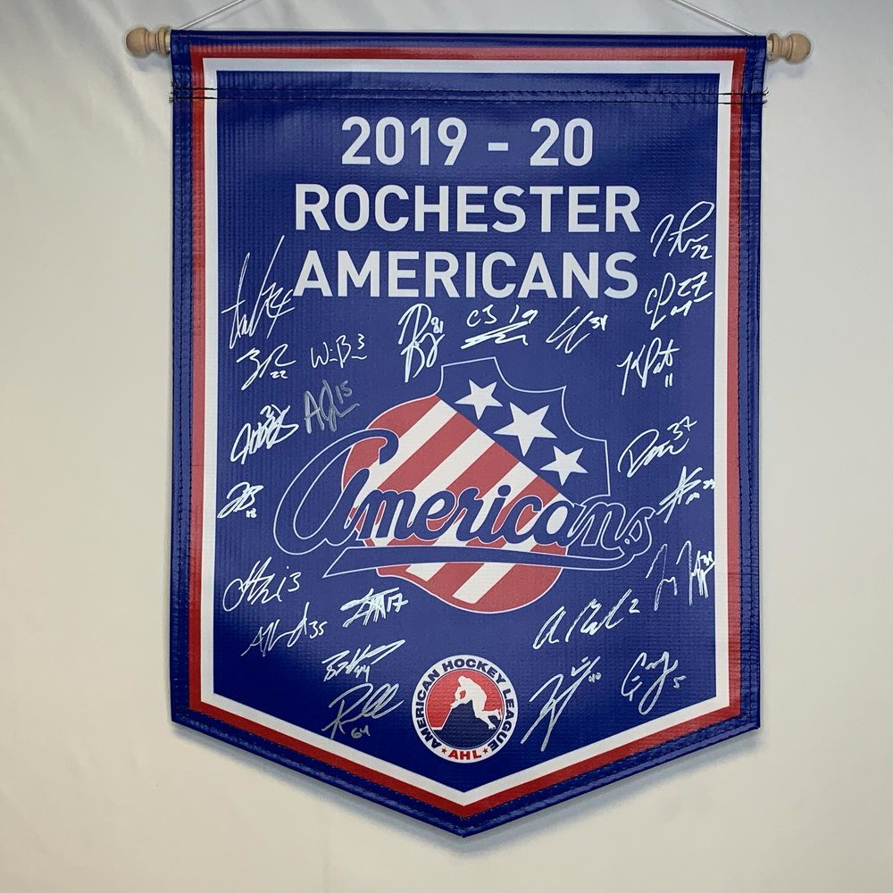 2019-20 Rochester Americans Team-Signed Banner